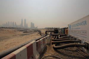 Dubai Water Canal Extension site