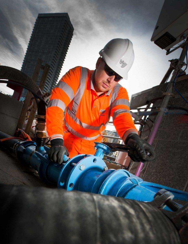 Operating headermain valves