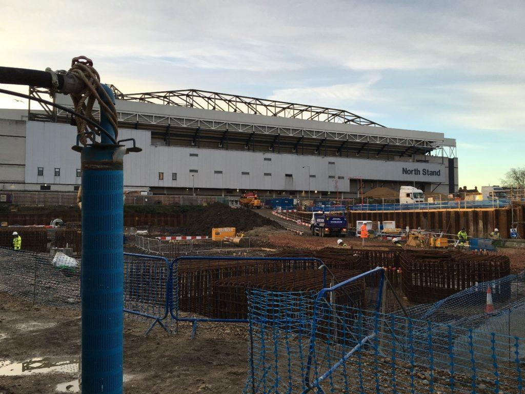 Work being carried out on the site of the new Tottenham Hotspur Stadium