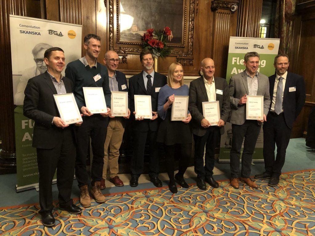 The line-up of finalists for the 2019 Fleming Award at the Institute of Civil Engineers