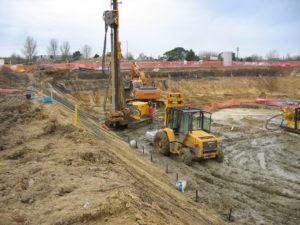 Drilling works take place at a site in Ashford