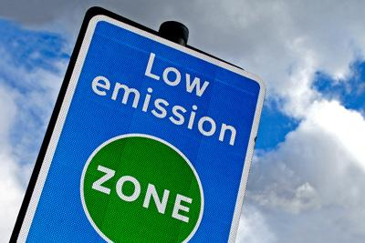 electric london low emissions sign