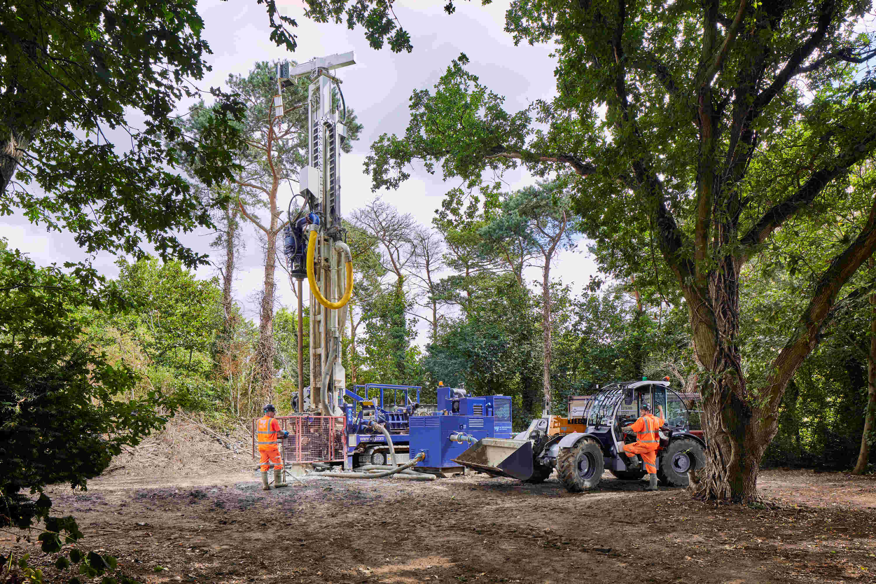 Rotary Drilling Rig set-up